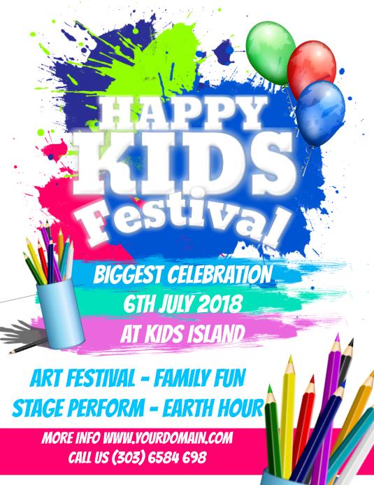 Happy Kids Festival Flyer Template