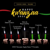 Happy Kwanzaa 2020 Template Kwadrat (1:1)