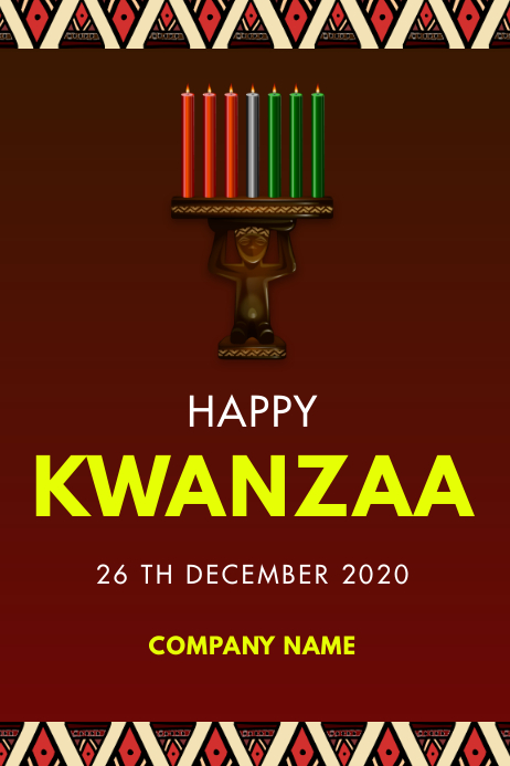 HAPPY KWANZAA FLYER Poster template