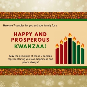 Happy Kwanzaa Wish Animation Design
