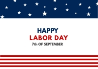 Happy Labor day Postcard template