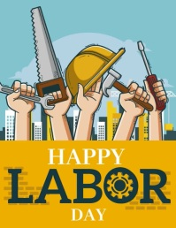 happy labor day Flyer (US-Letter) template
