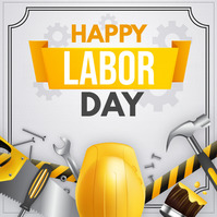 happy labor day Quadrato (1:1) template