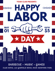 Happy Labor Day Flyer, Labor Day, Labour Day, Workers Day