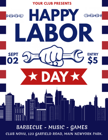 Happy Labor Day Flyer, Labor Day