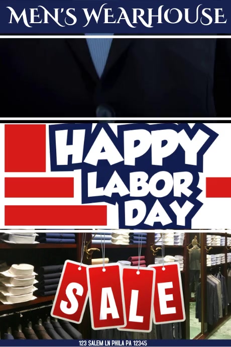 HAPPY Labor Day MENS WHAREHOUSE VIDEO