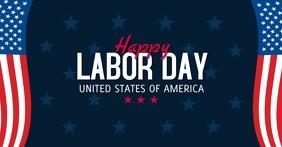 Happy Labor Day Gedeelde afbeelding op Facebook template