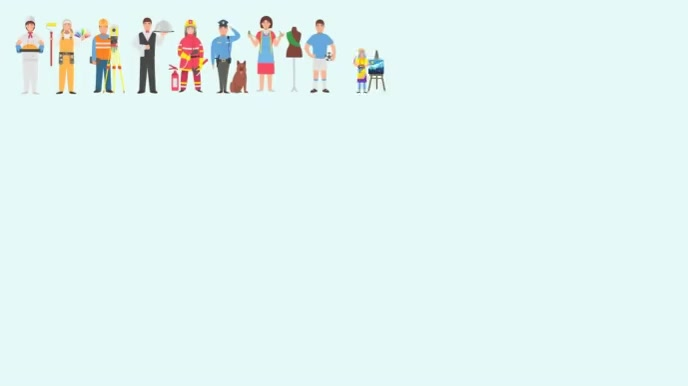 Happy Labour Day wishes Animated Video Ecrã digital (16:9) template