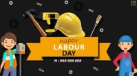 Happy Labour Day wishes Animated Video Digitale display (16:9) template