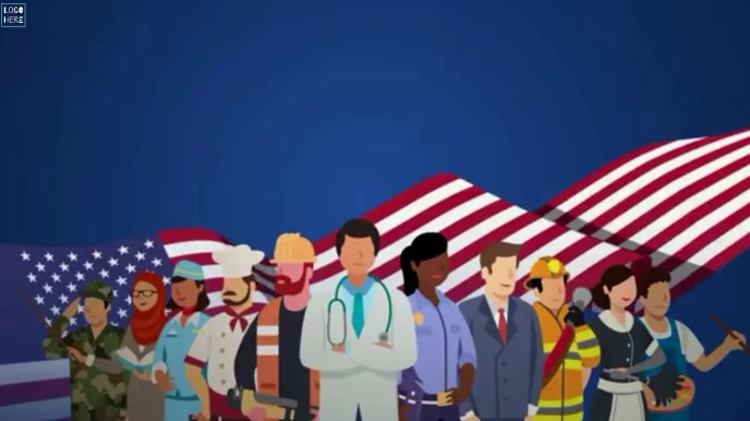 Happy Labour Day wishes Animation Template Ecrã digital (16:9)