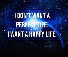 HAPPY LIFE QUOTE TEMPLATE Stort rektangel