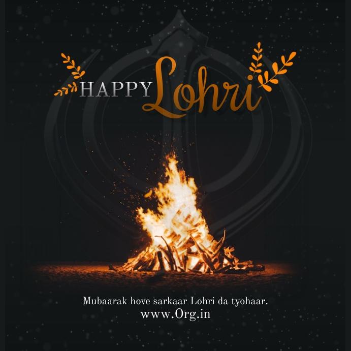 Happy Lohri 2021 Post Template Cuadrado (1:1)