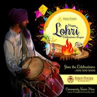 Happy Lohri Celebrations 2021 Template