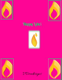 Happy Lohri Flyer (US Letter) template