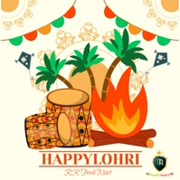 happy lohri Message Instagram template