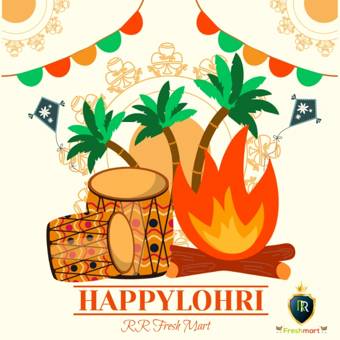 happy lohri Instagram-bericht template