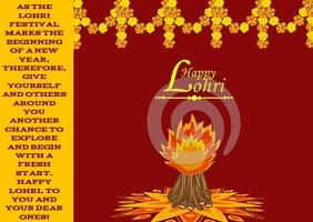 Happy Lohri Postcard template