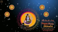 Happy Maha shivratri wishes Animated Video Display digitale (16:9) template