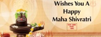 Happy Maha shivratri wishes template รูปภาพหน้าปก Facebook