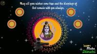 Happy Maha Shivratri wishes video Display digitale (16:9) template