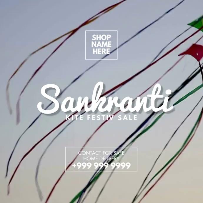 Happy Makar Sankranti 2021 Template Cuadrado (1:1)