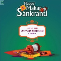 Happy Makar Sankranti Animated Font Template Instagram Plasing