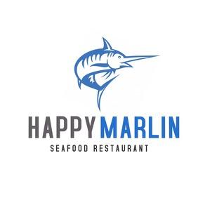 Happy marlin seafood restaurant logo