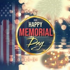 HAPPY MEMORIAL DAY CARD template