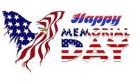 Happy memorial day Etykietka doczepna template