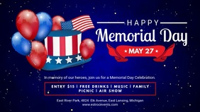 Happy Memorial Day Fair Invitation Banner Video