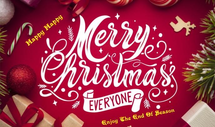 Happy Merry Christmass Tanda template