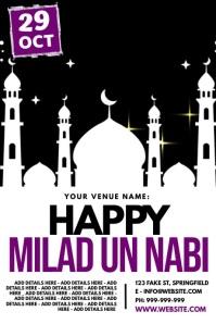Happy Milad Un Nabi Poster