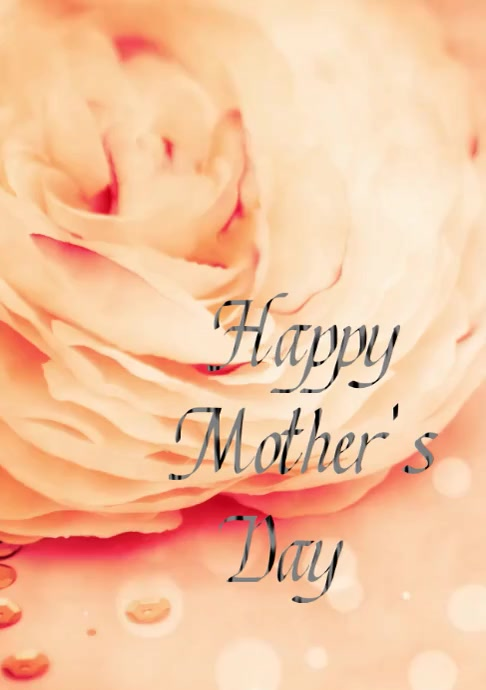 Happy Mother's Day A4 blume Rose Muttertag