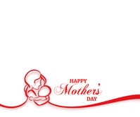 Happy Mother's day background สามเหลี่ยมขนาดใหญ่ template