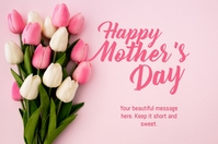 happy mother's day card 海报 template