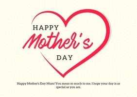 Happy Mother's Day Card Postal template