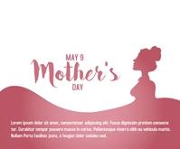 Happy Mother's day concept Persegi Panjang Sedang template