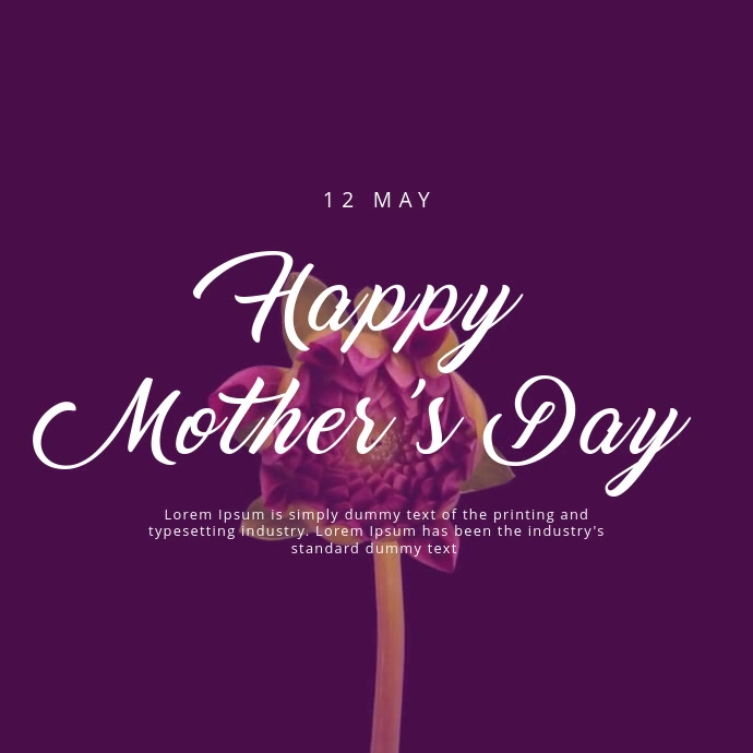 Happy Mother's Day Isikwele (1:1) template