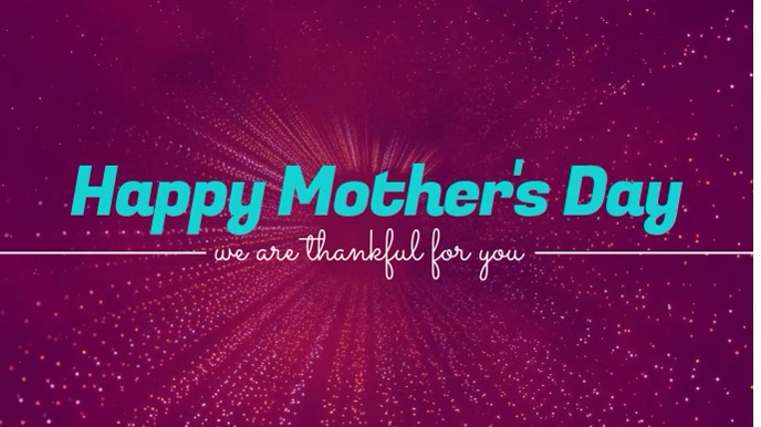 Happy Mother's Day Digitalanzeige (16:9) template