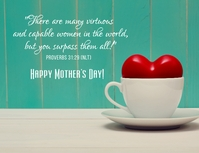happy mother's day Pamflet (VSA Brief) template