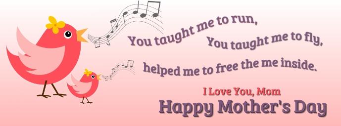 Happy Mother's Day Zdjęcie w tle na Facebooka template