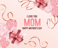 Happy Mother's day Rectangle moyen template