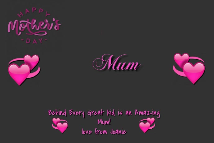 Happy Mother's Day Plakat template