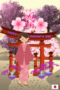 Happy mother's day/Dia de las Madres/Japan/Oriental/Women