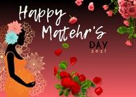 Happy Mother's day feliz dia das maes Postal template