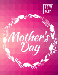 Happy Mother's Day Flyer, Mother's Day Party