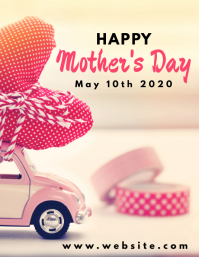 Happy mother's day flyer template