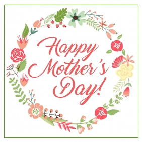 Happy Mother's Day Greeting Card Advert Celebration Square
