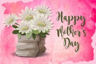Happy Mother's Day Greeting Card Этикетка template
