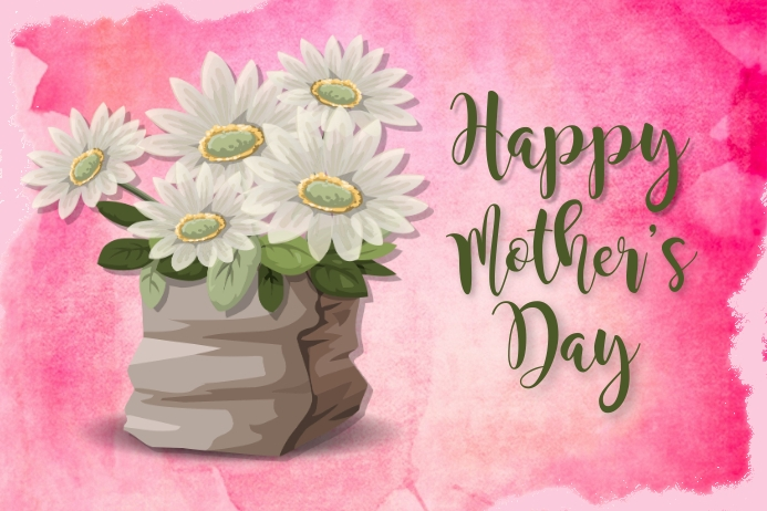 Happy Mother's Day Greeting Card Tatak template